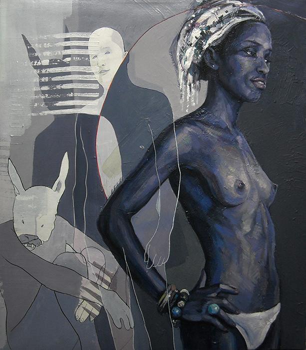 My J-marie, acrilico su tela, cm.74x83