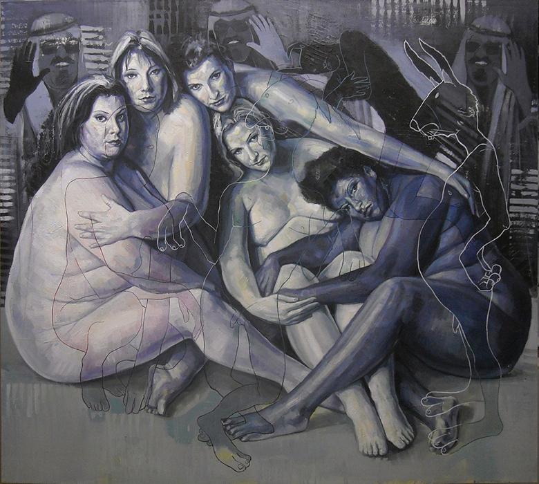 Harem, acrilico su tela, cm.125x145
