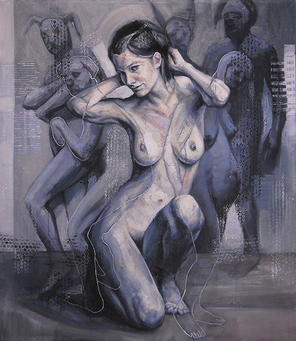 Angie,acrilico su tela,cm 87x102