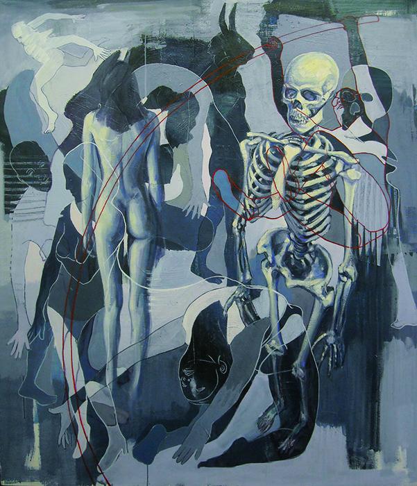 La morte è avara  vuole tutta la vita per se, olio e acrilico su tela
